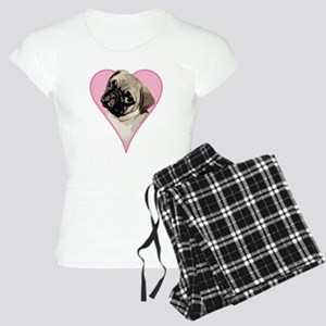 Heart Pug - Women's Light Pajamas